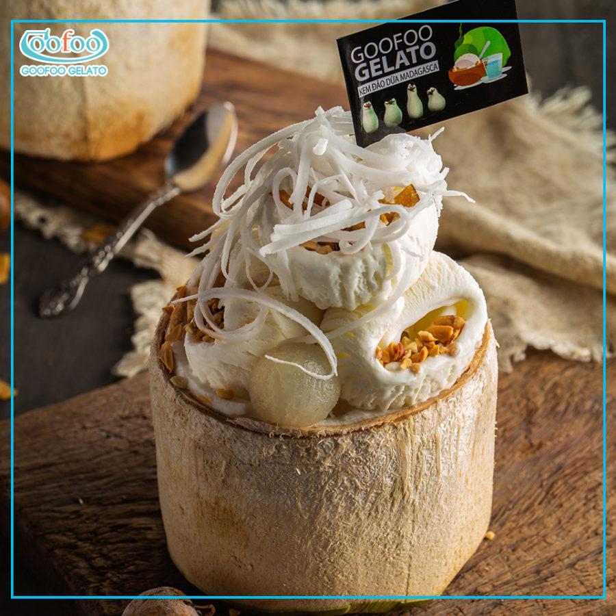 Kem đảo dừa Madagasca – đỉnh cao của kem dừa