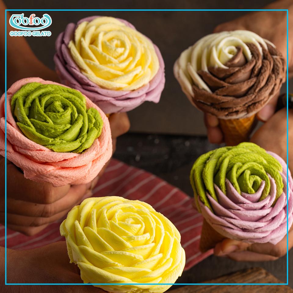 kem hoa hồng Goofoo