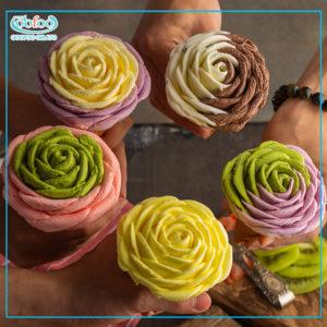 Kem hoa hồng